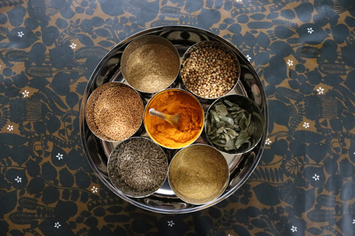 Ayurveda in the kitchen - following the Ayurvedic principle of not putting any thing on our skin that we can't put on our tongue.